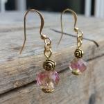 lampwork rose earrings
